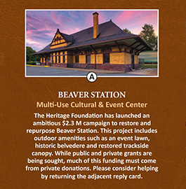 Beaver Area Heritage Foundation – Direct Mailer
